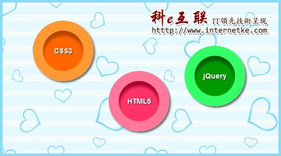 CSS3制作绚丽圆形动态按钮图片
