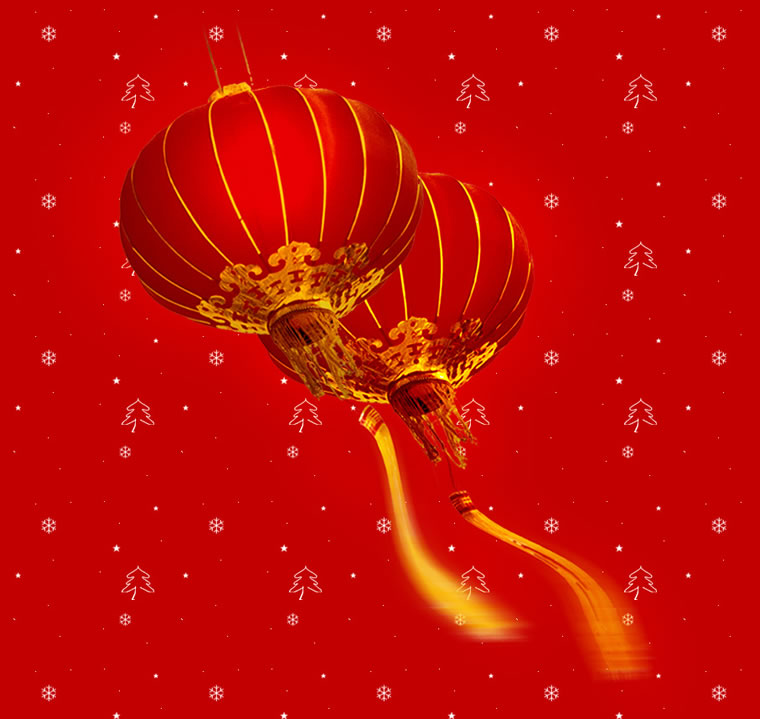 春节灯笼简笔画彩色
