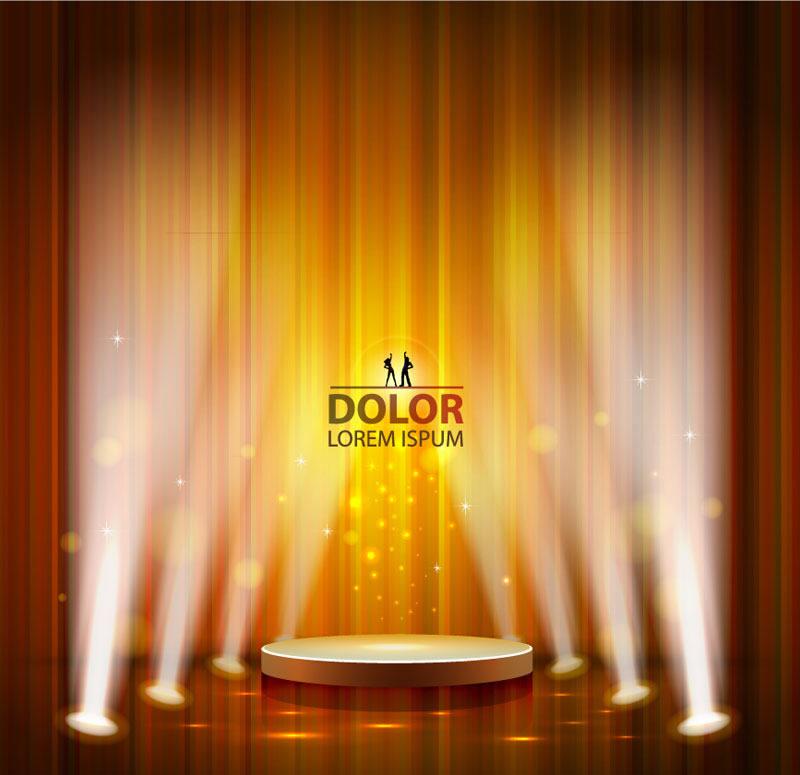 一款舞台灯光设计ai背景素材,平面广告,海报设计素材,网页banner图
